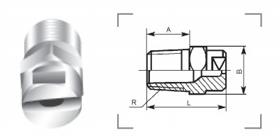 Fan nozzle type B1