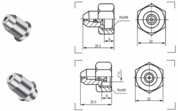 實心錐形噴嘴QZ1型