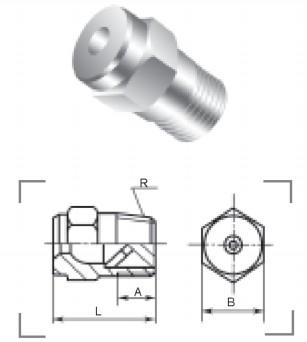 实心锥形喷嘴QZ2型