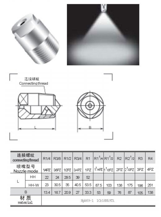實心錐形噴嘴QZ5型