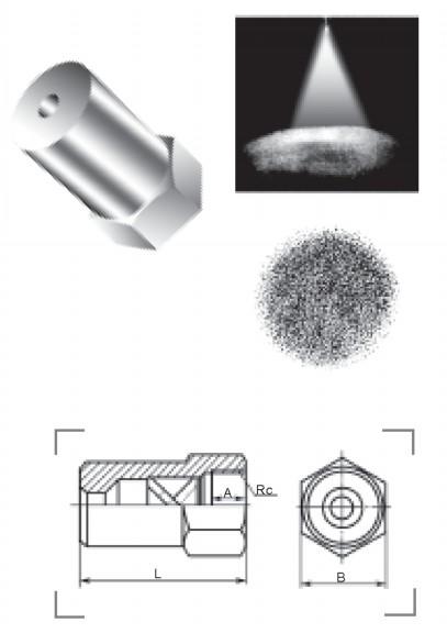 实心锥形喷嘴QZ6型