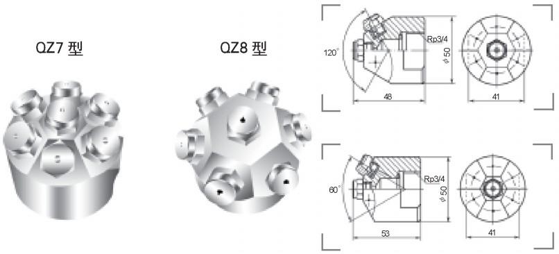 实心锥形喷嘴QZ7型/QZ8型